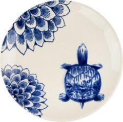 Blauwe Royal Delft Bord Wunderkammer Turtle 20 cm