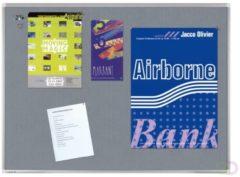 Bruna Textielbord Legamaster Premium 60x90cm grijs