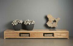 Bruine Teakea Corona | Teak TV meubel | 300x50x37