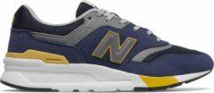 Donkerblauwe New Balance 997 sneaker met suède details