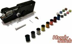 Zwarte Handy Switch Handy Stitch - PREMIUM Handnaaimachine met 16 Spoelen garen en accessoires - Compact - Draadloos - Draagbare reis naaimachine - Elektrisch of op Batterijen