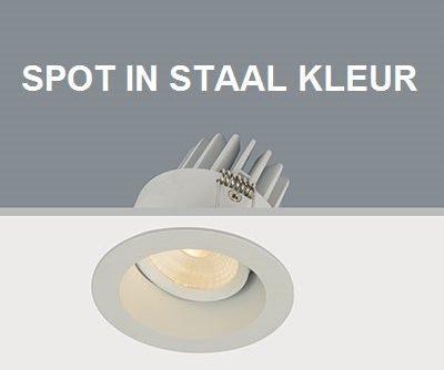 Afbeelding van Roestvrijstalen LT-Luce Inbouwspot LED Rond Verdiept Staal