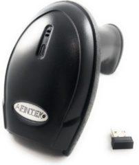 Zwarte AFINTEK Draadloze barcodescanner 1D barcodes - Bluetooth & 2.4Ghz - 50 meter draadloos