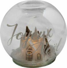 Peha Kaarshouder Joyeux Noel Led 12 Cm Glas Transparant