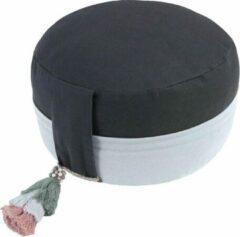 Antraciet-grijze Lotus Design Meditatiekussen Ying Yang (anthracite-grey, kl11)