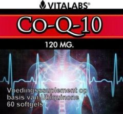 Vitalabs VitaTabs Co-Q10 - 120 mg - 60 softgels - Voedingssupplementen