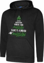 Zwarte ByKemme Hooded Sweater - Hoodie - Foute Kerst Trui - Maat M
