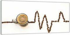 Bruine KuijsFotoprint Plexiglas –Koffie met Koffiebonen– 200x100 (Wanddecoratie op Plexiglas)