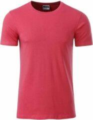 Donkerrode James & Nicholson James and Nicholson - Heren Standaard T-Shirt (Raspberry Roze)