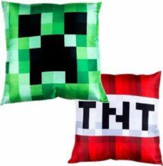 Rode ByCristianne Kussenhoes - Minecraft TNT / Creeper - 50 x 50 cm - Kinderkamer