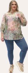 Roze Blouse Roos Ophilia Print