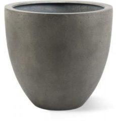 Grijze Luca lifestyle Grigio plantenbak Egg Pot S antraciet betonlook