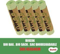 Groene Dumil Biozak 20 Liter 45x50cm - 5 Rollen van 10 Zakken - Voordeelverpakking