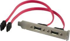 Rode DELTACO SATA-32, SATA - SATA aansluit bracket, double aansluiting adaptor, 30cm