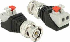 Zilveren OKS BNC connector met klembevestiging mannelijk