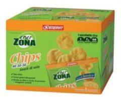 Enerzona Chips gusto Classico 40-30-30 snack di soia confezione da 5 sacchetti