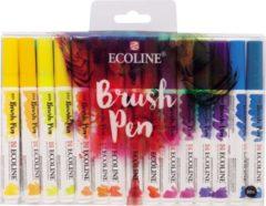 Talens Ecoline Brush pen, etui van 30 stuks in geassorteerde kleuren