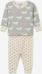 Roze Hatley miejses 2-delige pyjama Pasture Horses - 9-12 mnd