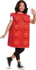 DISGUISE - Rood Legoblokje kostuum voor kinderen - 110/128 (4-6 jaar) - Kinderkostuums