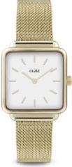 CLUSE Horloges La Tetragone Mesh Gold White Goudkleurig