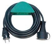 Brennenstuhl Qualitäts-Gummi-Verlängerungskabel schwarz H05RR-F 3G1,5 Länge: 10m