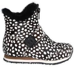 Beige Laarzen Woden Kids Odina Zipper Animal Boots
