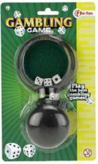 Groene Toi Toys BV Mini dobbelspel op kaart | 5x dobbelsteen + beker | dobbelsteenset | yathzee |dobbelstenen