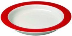 Ornamin Bord met schuine bodem en rode rand - 20 cm
