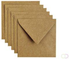Papicolor Original Envelop Kraft Bruin 6 stuks 140 x 140 mm