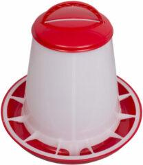 Beeztees Plastic voersilo met deksel rood wit 1kg