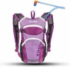 Lichtpaarse Source hydration pack voor kinderen Spry 1.5 liter - Licht Paars