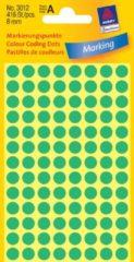 Avery-Zweckform 3012 Etiketten à 8 mm Papier Groen 416 stuk(s) Permanent Etiketten voor markeringspunten