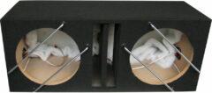 Zwarte Boschmann MDF Slotpoort subwooferkist 12''/30cm Double (34/47x88x36) 2x42 Liter