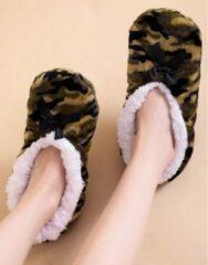 Sorprese cosy – pantoffels dames – camo – maat 36-38 – sloffen dames