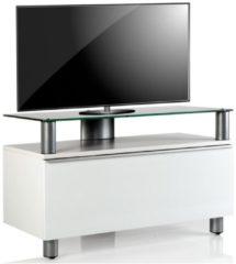 Premium TV Lowboard Board Fernsehtisch Rack Möbel Tisch Schrank Holz 'Clano' VCM Weisslack
