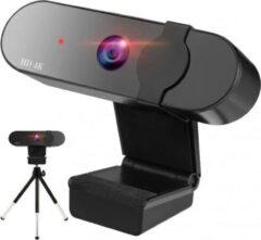 Zwarte Missan Online Missan: 4k HD Webcam USB-computerwebcam - Met Privacysluiter en Statief - 4K webcamera met Autofocus - Met Privacysluiter en microfoon voor Skype, videogesprekken, conferenties, opname, streaming