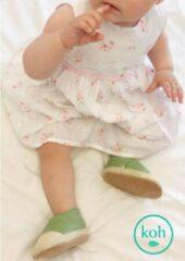 Groene Kohworld Babyschoentjes-espadrilles-Golden-Olive / 6-9 mnd