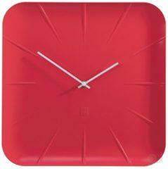 Rode Sigel Artetempus Inu - Klok - Vierkant - Kunststof - 35x35 cm - Rood