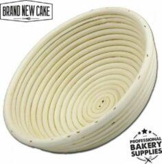 BrandNewCake Rijsmandje Riet Rond 800g (Ø22cm) - Banneton voor Deeg Rijzen en Brood Bakken