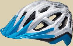 KED Pylos unisex Fahrradhelm Kopfumfang M 52-58 cm white blue matt glossy