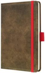 !weekagenda Sigel Conceptum design vintage bruin A6 192 blz. 80g 2 Pag. = 1 Week