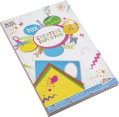 Grafix Gekleurd papier | 70 vellen | Vouwpapier | Origami | hobbypapier | A4 formaat | 6 verschillende kleuren