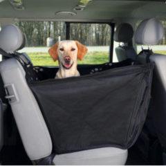 Zwarte TRIXIE Honden beschermhoes achterbank 65x145 cm zwart en beige 13231