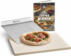 Burnhard Pizzasteen 38 x 30 x 1,5 cm + pizzaschep