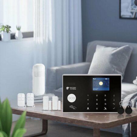 Afbeelding van Witte Smart Home Beveiliging Alarmhub 2 plus alarmsysteem zonder camera - Cijferpaneel - Melding via app, SMS en oproep - Uitbreidbaar - Thuis zone - Vertragingstijd - SIM kaart - RFID tag