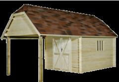 Gardenas | Blokhut Oxford XL geimpregneerd | 355x650 cm