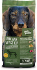 Pets Place Naturals Senior Small Breed - Hondenvoer - Kip 3 kg