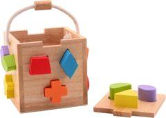 Jouéco houten blokkendoos 14 delig