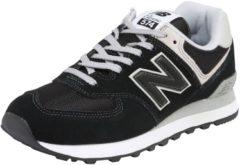Licht-grijze New Balance 574 suede sneakers zwart/lichtgrijs