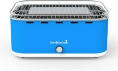 Barbecook Carlo - Houtskool BBQ - Tafel BBQ - Inclu. Draagtas - Compact - Ventilator - 38,5 x 28,5 cm - 6 p. - Blauw